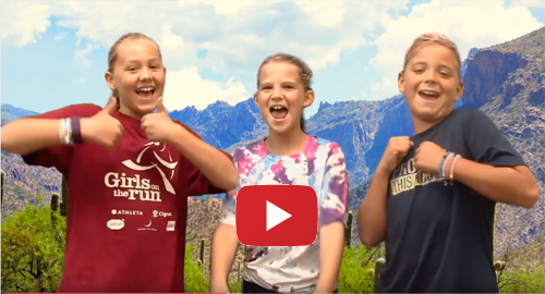Canyon View Morning Announcements - Three Smiling Students